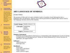 ART- LANGUAGE OF SYMBOLS Lesson Plan