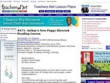 Arthur's New Puppy Directed Reading Lesson (Elementary, Reading/Writing) Lesson Plan