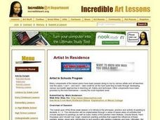 Artist in Schools Program Lesson Plan