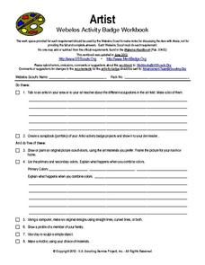 Artist Webelos Activity Workbook Worksheet