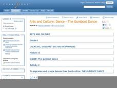 Arts and Culture: Dance The Gumoot Dance Lesson Plan