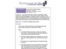 As You Like It Word Plays Lesson Plan