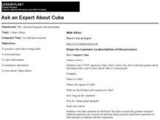 Ask an Expert About Cuba Lesson Plan