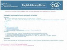 Asking and Answering Questions Using Basic Vocabulary Lesson Plan