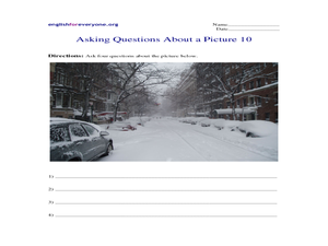 Asking Questions About a Picture 10 Worksheet