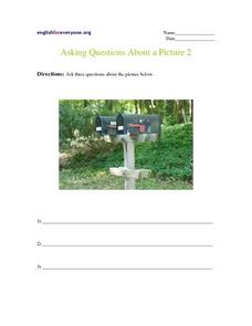 Asking Questions About a Picture 2 Worksheet