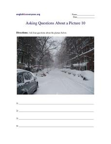 Asking Questions Based On A Picture Worksheet