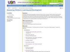 Assessing Children's Learning and Development Lesson Plan