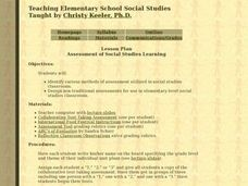Assessment of Social Studies Learning Lesson Plan