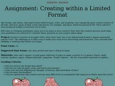 Assignment: Creating within a Limited Format Lesson Plan