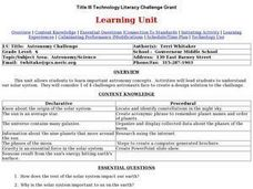 Astronomy Challenge Lesson Plan
