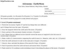 Astronomy:  Earth/Moon Lesson Plan