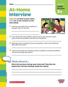 At-Home Interview Worksheet