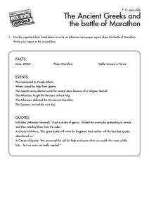 Athenian Newspaper Report Worksheet