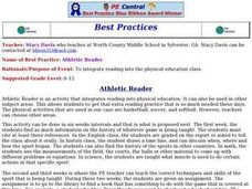 Athletic Reader Lesson Plan