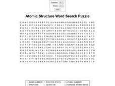 Atomic Structure Word Search Worksheet