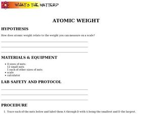 Atomic Weight Worksheet
