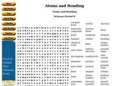Atoms and Bonding Worksheet