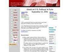 Attack on U.S. Embassy in Syria Lesson Plan