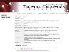 Auditions Lesson Plan