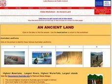 Australia- An Ancient Land Worksheet