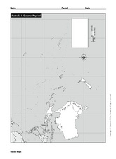 Australia and Oceania: Physical Map Worksheet
