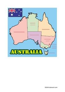 Australia Map Resource Sheet Worksheet