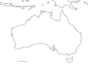australia outline map 4th 9th grade worksheet lesson planet. Black Bedroom Furniture Sets. Home Design Ideas