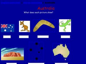 Australia Worksheet