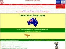 Australian Geography Worksheet