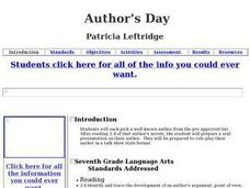 Author's Day Lesson Plan