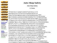 Auto Shop Safety Worksheet