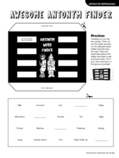 Awesome Antonym Finder Lesson Plan
