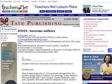 Awesome authors (Elementary, Reading/Writing) Lesson Plan