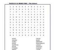Aztec Word Search Worksheet