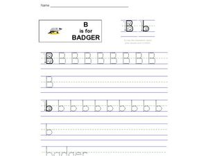 B is for Badger Worksheet