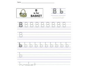 B is for Basket Worksheet