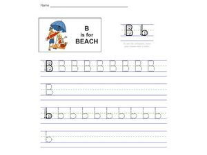B is for Beach Worksheet