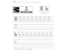 B is for Bookcase: Letter Bb Worksheet