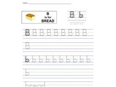 B is for Bread: Bb Worksheet
