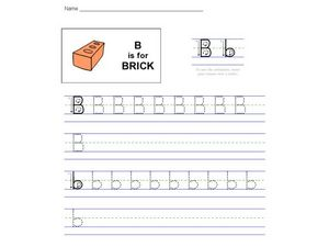 B Is For Brick Worksheet