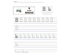 B is for Bridge: Letter Bb Worksheet