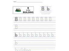 B is for Building: Letter Bb Worksheet
