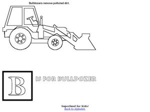 B is for Bulldozer Worksheet