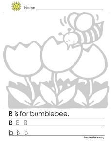 B is for Bumblebee Lesson Plan