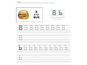 B is for Bun Worksheet