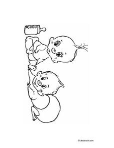 Baby Coloring Page Worksheet