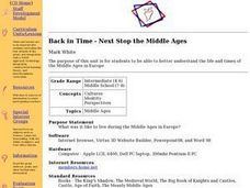 Back in Time - Next Stop the Middle Ages Lesson Plan