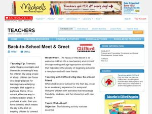 Back-to-School Meet & Greet Lesson Plan