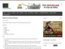 Back to School Rules Lesson Plan
